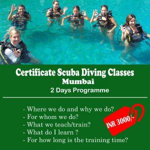 Certificate Scuba Diving Classes