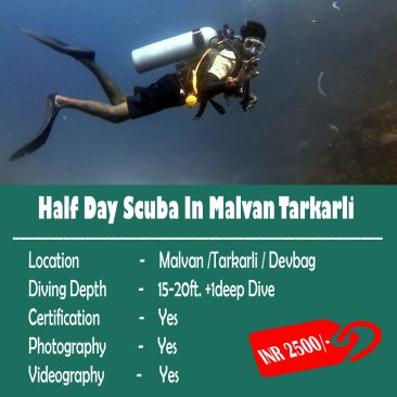 Half Day Scuba In Malvan Tarkarli