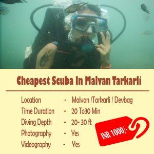 Cheapest Scuba In Malvan Tarkarli