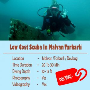 Low Cost Scuba In Malvan Tarkarli