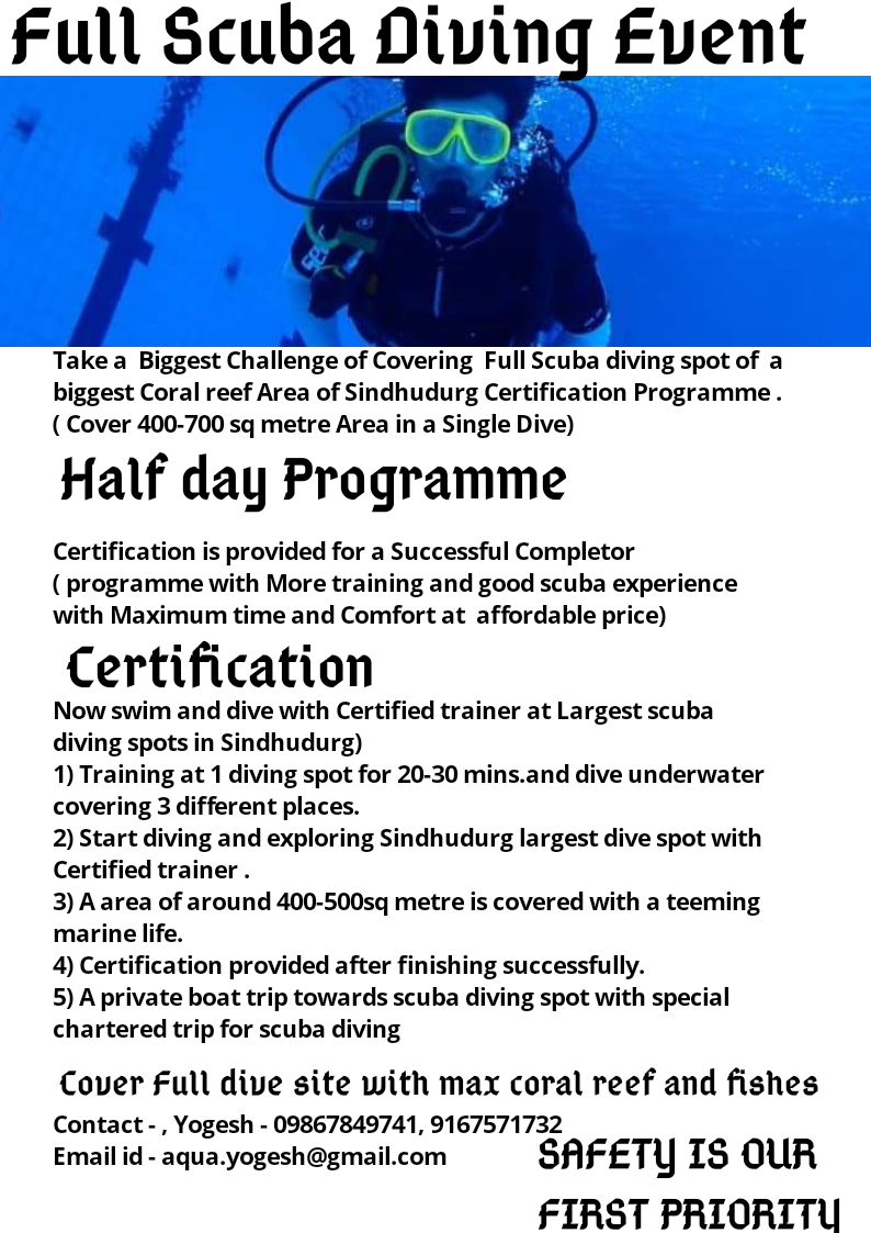 Full Scuba Diving Event